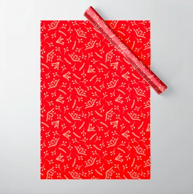 Society6 Branches and Berries Wrapping Paper (5 sheets), $12