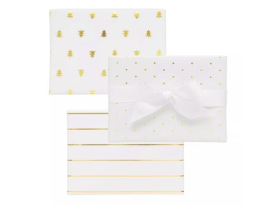 Sugar Paper White and Gold Combo Trio, $15