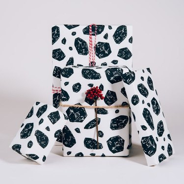 Norman's Printery Coal Gift Wrap (3 sheets), $16