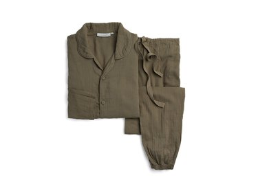 military green pajama set