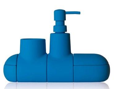 blue bathroom accessories set