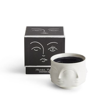 jonathan adler white candle with black box
