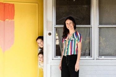 Letitia Fernandez Ivins at home