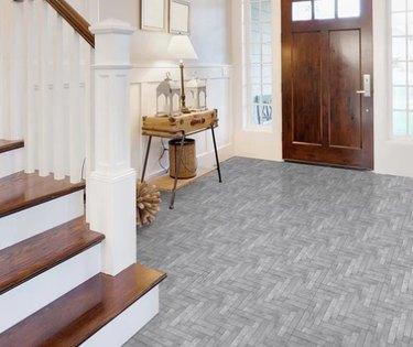 luxury vinyl tile entryway