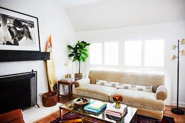 beach-chic contemporary living room