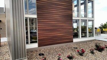 Engineered wood wall