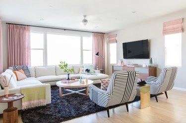 living room rug idea with long pile black shag rug