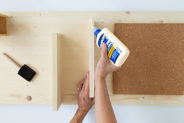 Steps for making a DIY Modern Message Board