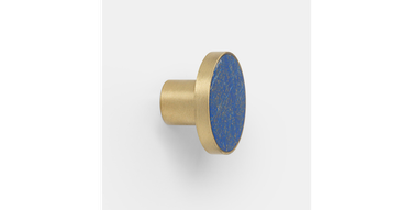 Ferm Living Blue Lapis and Brass Knob (Large), $65