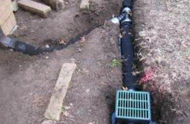 French drain catch basin.