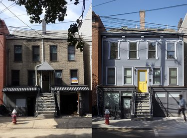 before after house exterior