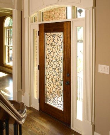 Decorative entry door.