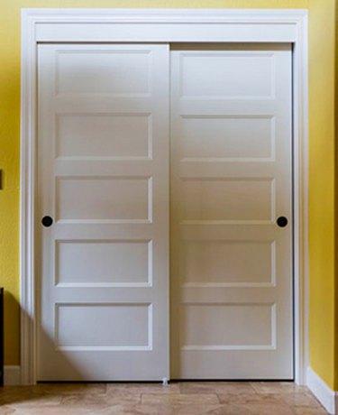 White bypass doors.