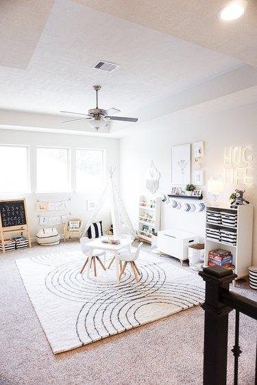 White kids' playroom ideas