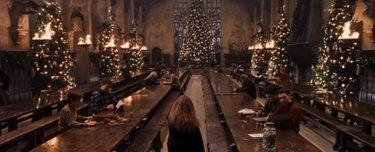 harry potter holiday movie decor