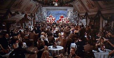 white christmas holiday movie decor