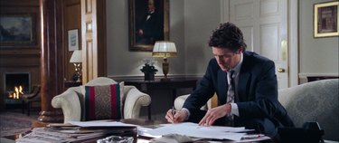 the prime minister writing, still frame from love actually