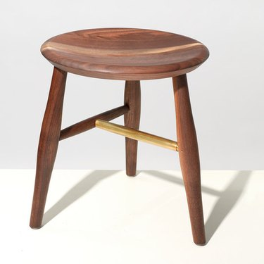 Fern Walnut and Brass Stool