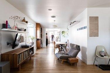 living room with hardwood