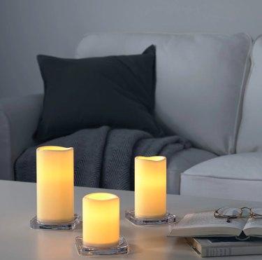 IKEA Godafton LED Candle Trio, $9.99