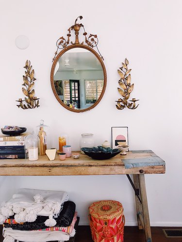 SF Girl by Bay Victoria Smith home tour with rustic console table
