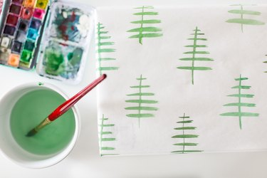 Hand-painted wrapping paper
