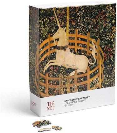 The Metropolitan Museum Unicorn in Captivity Puzzle, $19.95