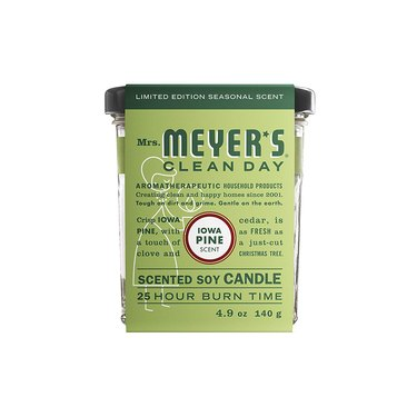 Mrs. Meyer's Iowa Pine Soy Candle, $9.99