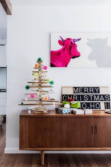 midcentury modern christmas tree ideas