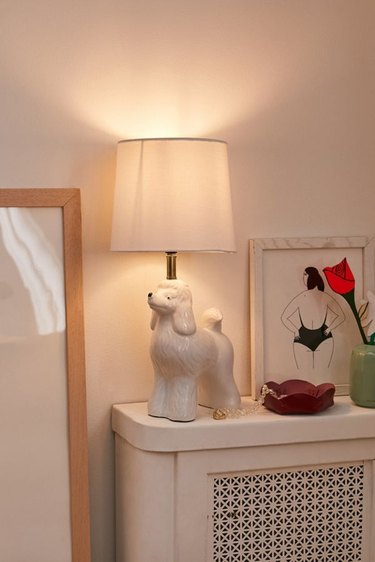lamp with poodle base