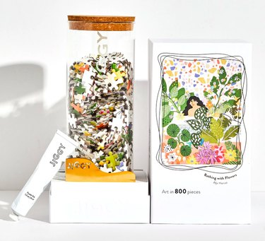 """Jiggy """"Bathing With Flowers"""" 800-Piece Puzzle, $48"""