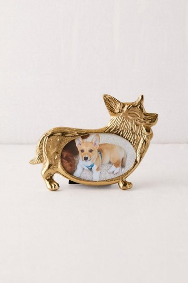 picture frame in shape of a corgi