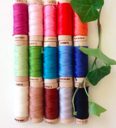 Assortment of embroidery thread.