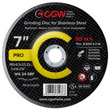 Grinding disc for stainless steel.
