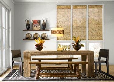 behr soft secret paint color, still image of dining room