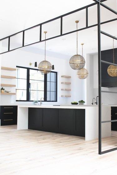 modern home interior design in kitchen
