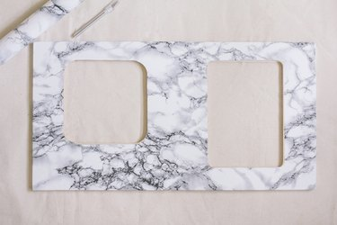 Marble contact paper on countertop
