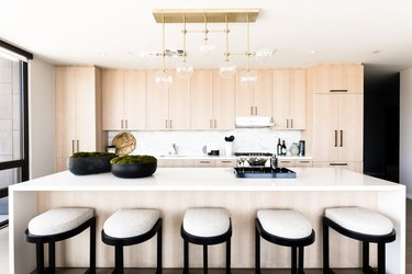 White oak cabinets