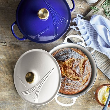 Le Creuset Eiffel Tower casserole in indigo and white