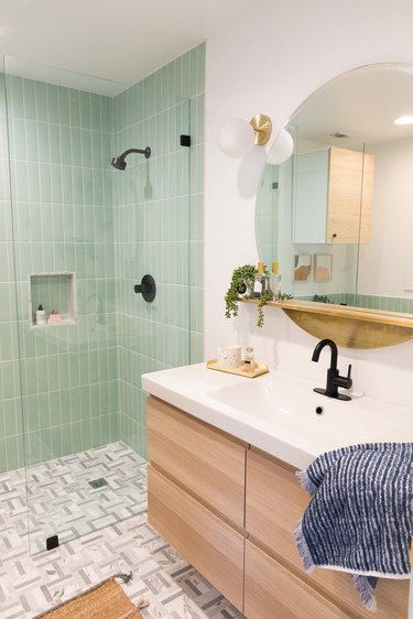 Sugar & Cloth Bathroom Mirror