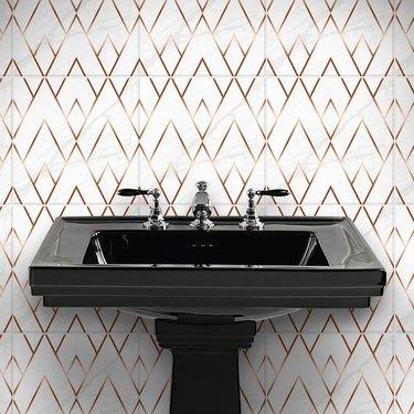 Art Deco tile stickers