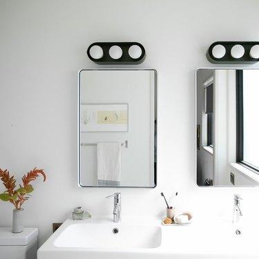 Schoolhouse bathroom mirrors
