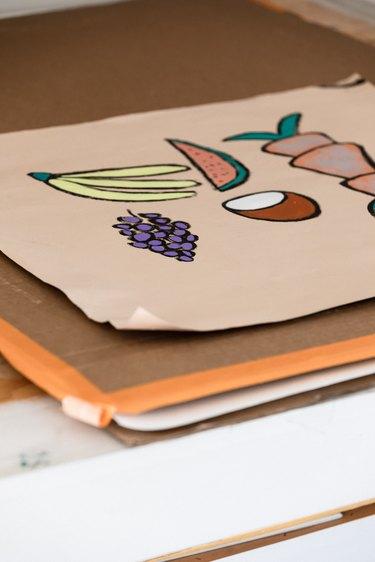 close-up photo of artwork