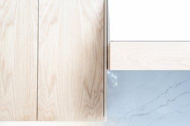 White oak cabinet