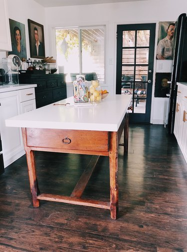 SF Girl by Bay Victoria Smith kitchen with antique French farm table