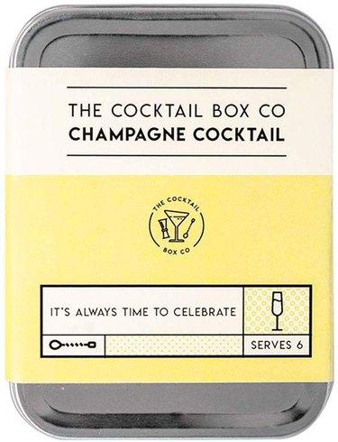 Cocktail kit in silver tin