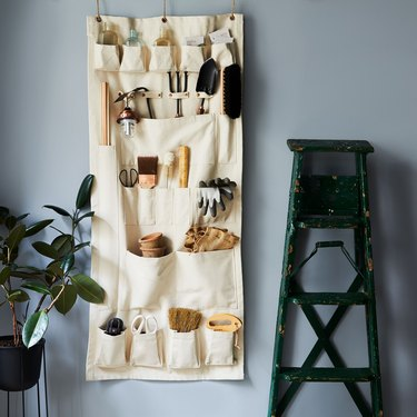The Floral Society Vertical Canvas Wall Organizer