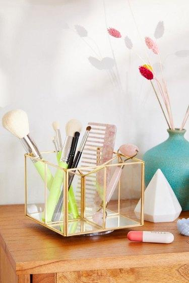 Urban Outfitters Francine Makeup Organizer bathroom countertop storage