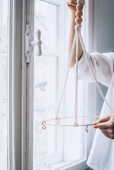 Hanging a DIY Herb Drying Rack
