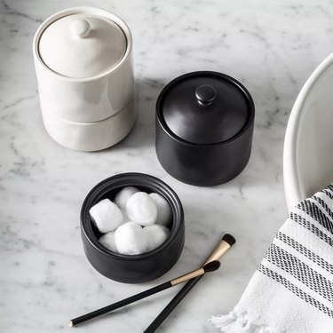 Target Hearth & Hand Magnolia Bath Canister for bathroom countertop storage